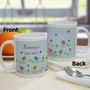 Personalized Tweet-Hearts Mug