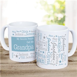 Personalized Favorite People Word-Art mug | Custom Coffee mug