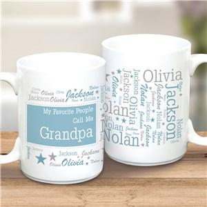 Word-Art Grandpa Ceramic Mug | Personalized Mug For Grandpa