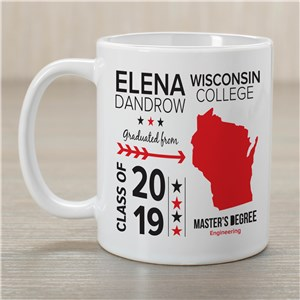 Personalized Graduation State Mug | Graduation Gifts