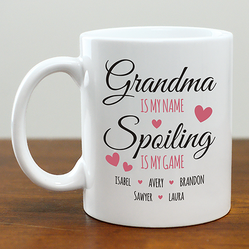 Personalized Spoiling is My Game Mug | Personalized Gifts For Grandparents