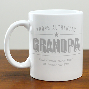 Personalized 100% Authentic Mug for Him | Customizable Coffee Mug