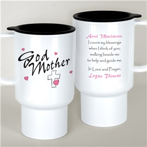 Personalized Godmother Travel Mug T210810