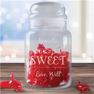 Personalized Valentines Treat Jar | Personalized Valentine Gifts For Kids