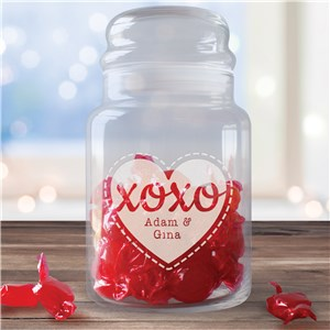 Personalized Love Treat Jar | Personalized Valentine's Gifts