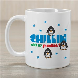 Chillin' Penguin Personalized Winter Coffee Mug | Customizable Coffee Mugs