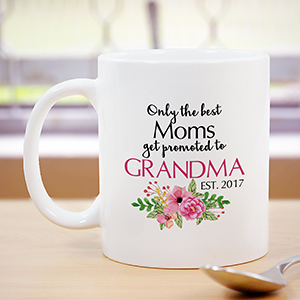 Personalized Promoted To Grandma Mug | Personalized Gifts For Grandma