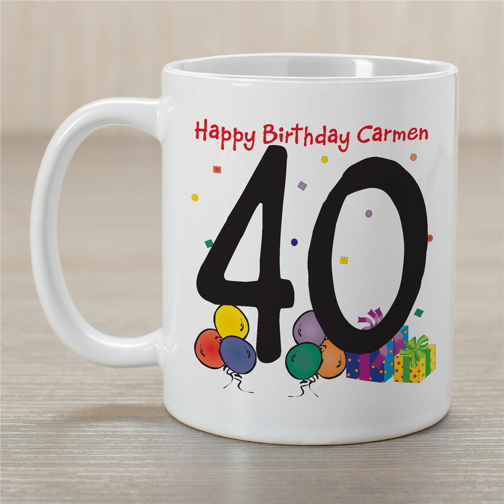 Birthday Ceramic Coffee Mug | Customizable Coffee Mugs