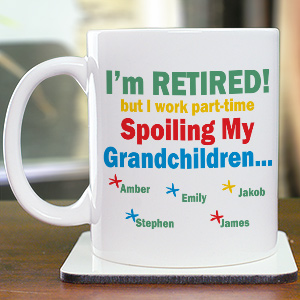 Personalized Grandkids Coffee Mug