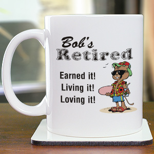 Personalized Retirement Coffee Mug
