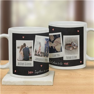 Personalized Together Is A Wonderful Place Photos Mug | Personalized Valentine Coffee Mugs