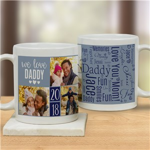 Personalized We Love You Word-Art Photo Mug | Personalized Mugs