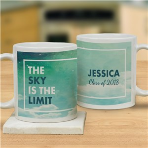 Personalized Sky Is The Limit Mug | Personalized Graduation Mugs