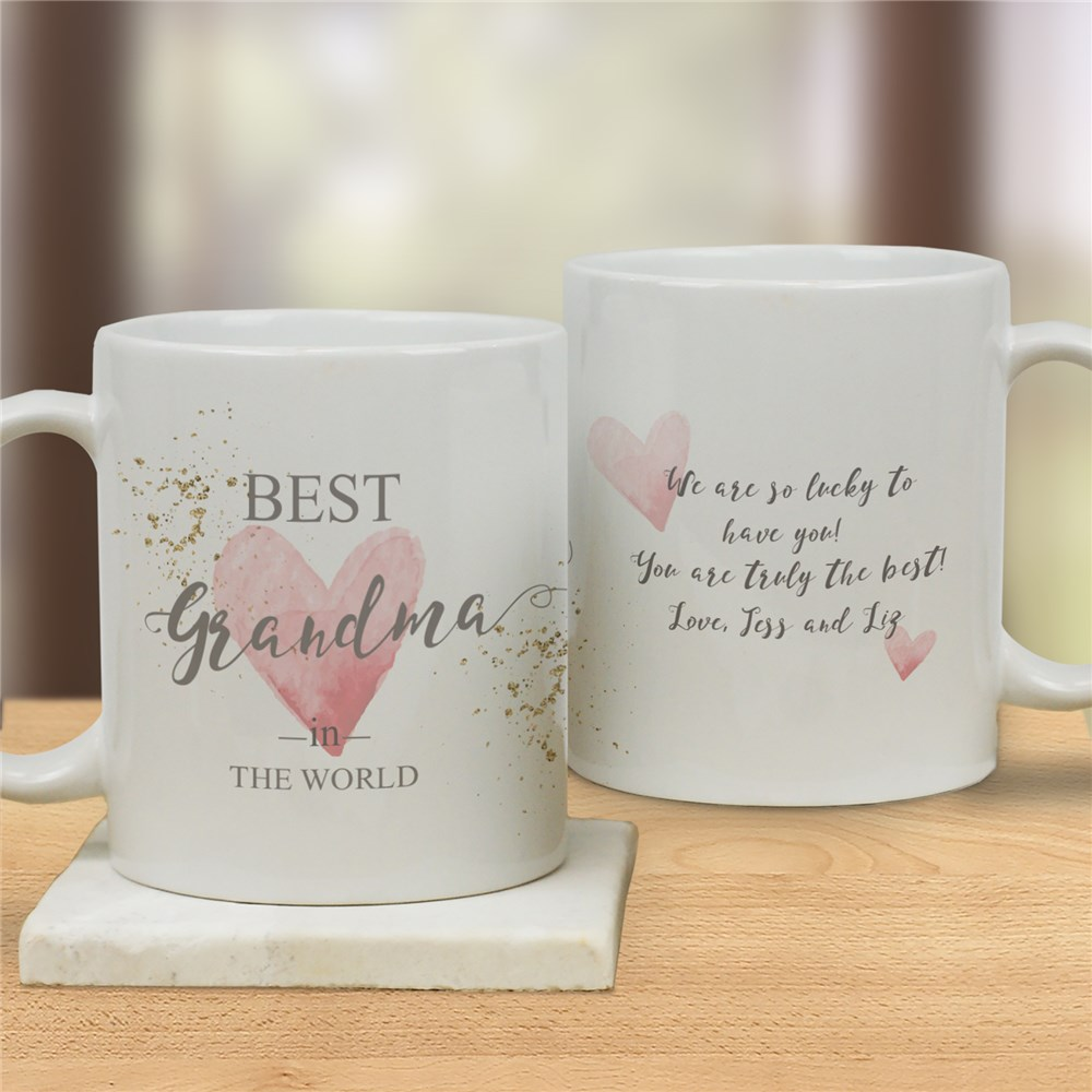 Personalized Best In The World Mug | Personalized Coffee Mugs for Grandma