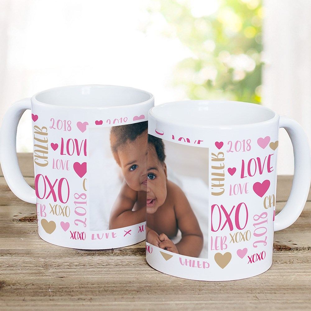 Personalized Mom Word-Art Photo Mug | Mom Photo Mug