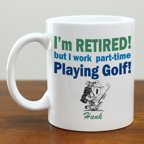 Custom Printed Retired Coffee Mug | Customizable Coffee Mugs