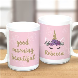 Personalized Unicorn Mugs | Unicorn Lashes Mug