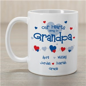 Our Hearts Belong to Grandpa Coffee Mug | Personalized Grandpa Gifts