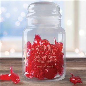 Personalized Valentine's Gifts | Personalized Treat Jar
