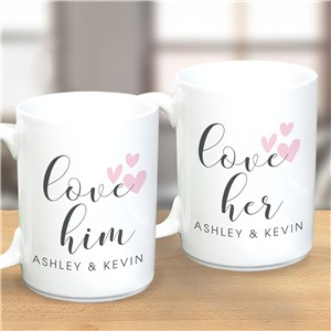 Personalized Mugs Set | His and Hers Gifts For Valentines
