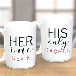 Personalized Mugs Set | His and Her Gifts