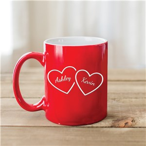 Engraved Coffee Mugs | Personalize Valentine Mugs