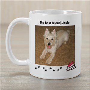 My Best Friend Dog Personalized Photo Coffee Mug | Customizable Coffee Mugs