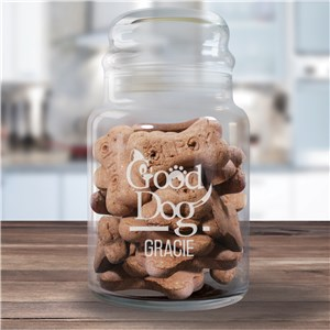 Engraved Good Dog Glass Treat Jar 2150244