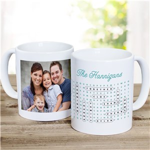 Personalized Word Search Mug | Photo Mug With Word Search