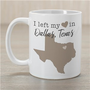 Left My Heart In Personalized State With Symbol Coffee Mug 2157400