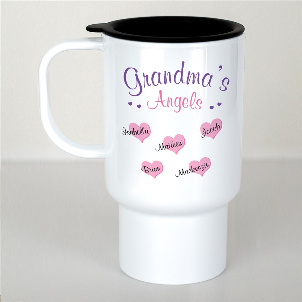 Personalized Angels Of My Heart Travel Mug | Personalized Mugs