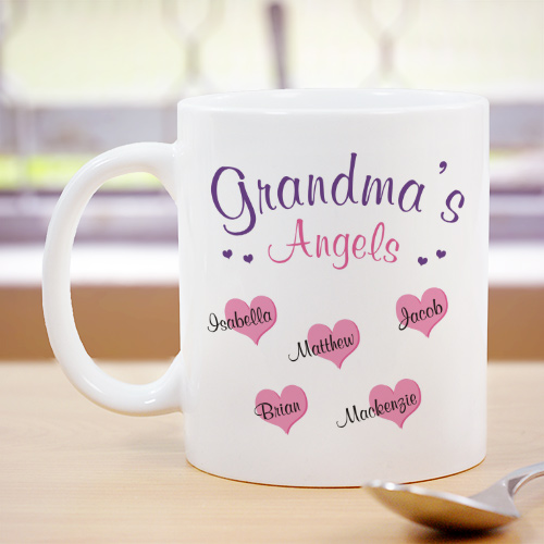 Angels of My Heart Personalized Coffee Mug | Grandma Gifts