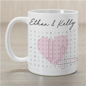 Personalized Couples Word Search Mug 2158700