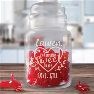 Engraved Valentine Gifts | Valentine's Treat Jar