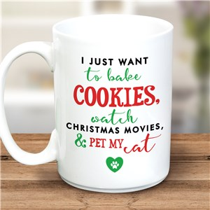 Personalized Bake Cookies & Watch Christmas Movies Mug