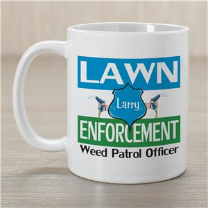 Lawn Enforcement Ceramic Coffee Mug | Customizable Coffee Mugs