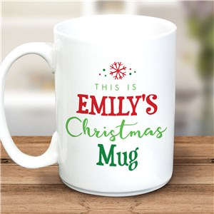 Personalized This Is My Christmas Mug