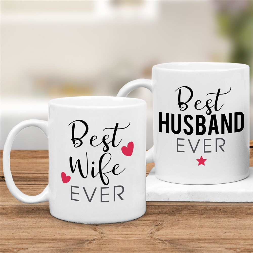 Personalized Best Ever Husband or Wife Coffee Mug