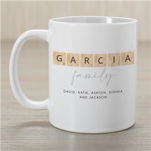 Personalized Word Tiles Mug 2173620