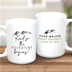 Personalized The Adventure Begins Mug