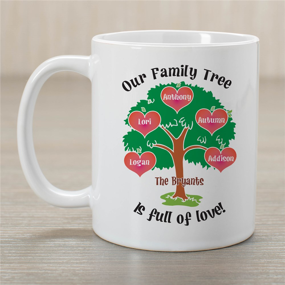 Our Family Tree Personalized Mug | Customizable Coffee Mugs