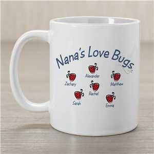 Love Bugs Personalized Mug | Personalized Mugs For Mom