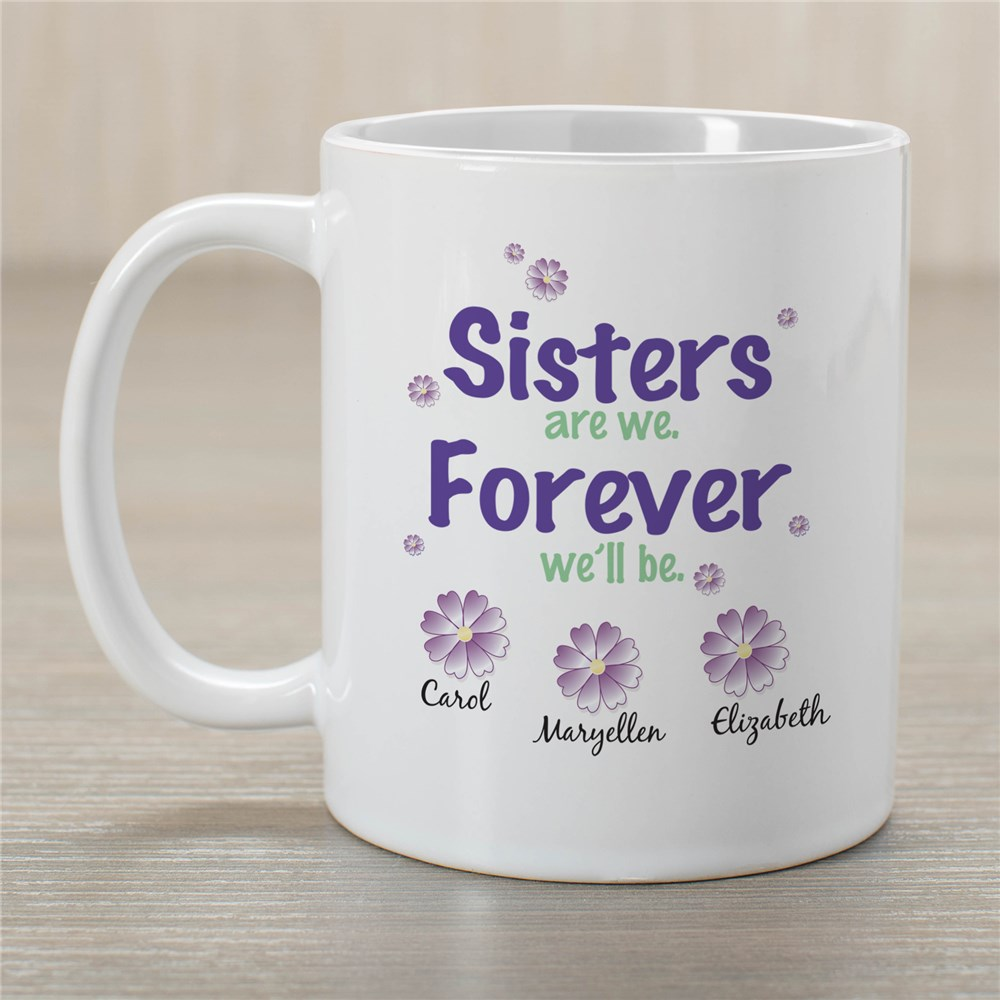 Personalized Sisters Forever Mug