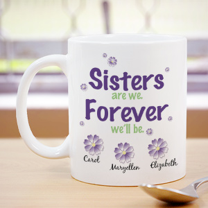 Personalized Sister Coffee Mug