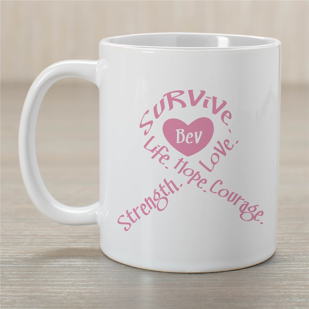 Survival Ribbon  - Breast Cancer Awareness Personalized Coffee Mug