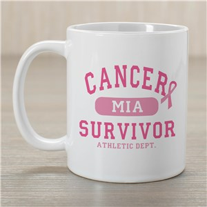 Cancer Survivor Athletic Dept - Breast Cancer Awareness Personalized Coffee Mug