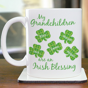 Irish Blessings Personalized Coffee Mug