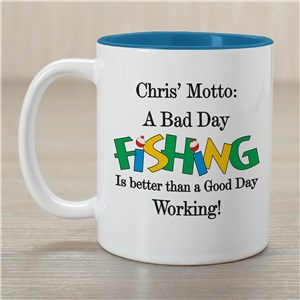 Bad Day Fish Coffee Mug | Customizable Coffee Mugs