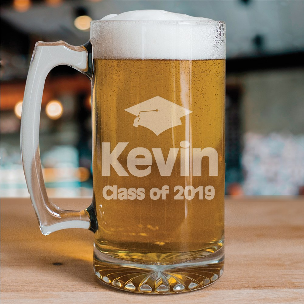 Class of Graduation Glass Mug | Graduation Cups Personalized