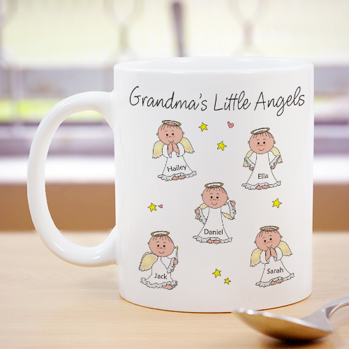 Little Angels Personalized Coffee Mug | Personalized Gifts For Grandma